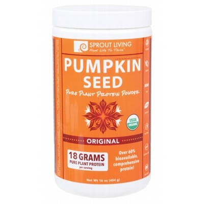 SPROUT LIVING Pumpkin Seed Protein 100% Pure Powder 454g