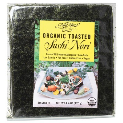 GOLD MINE Toasted Sushi Nori 125g