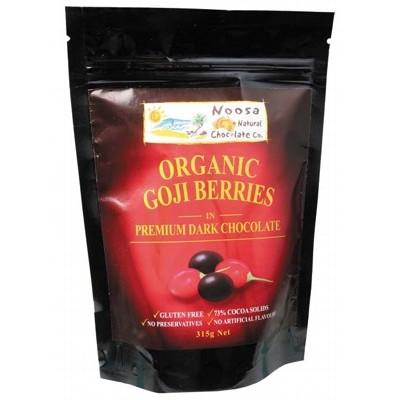 NOOSA NATURAL CHOC. CO. Dark Choc Goji Berries 315g