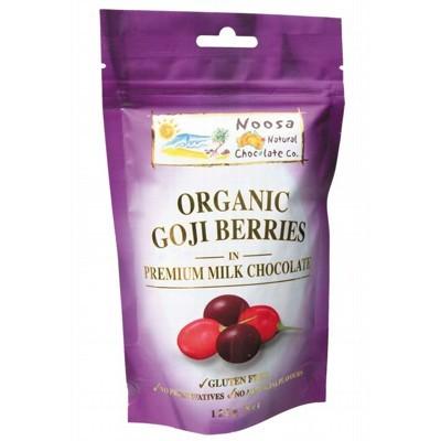 NOOSA NATURAL CHOC. CO. Milk Choc Goji Berries 125g