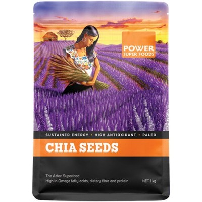 POWER SUPER FOODS Chia Seeds Black+White 1kg