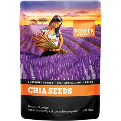 POWER SUPER FOODS Chia Seeds Black+White 500g