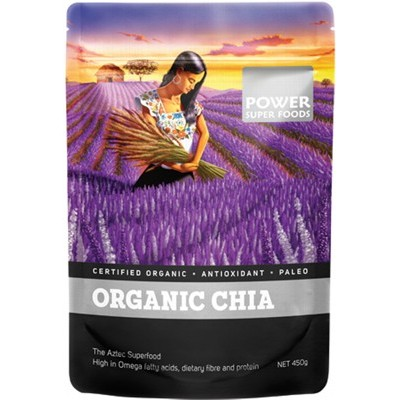 POWER SUPER FOODS Organic Chia Seeds 450g