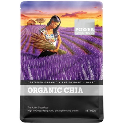 POWER SUPER FOODS Organic Chia Seeds 950g
