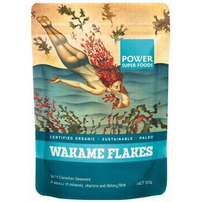 POWER SUPER FOODS Wakame Flakes (Wild Canadian Seaweed) 50g