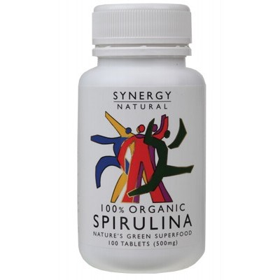 SYNERGY ORGANIC Spirulina Tablets 100 tabs