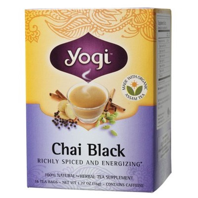 YOGI TEA Herbal Tea Bags Chai Black