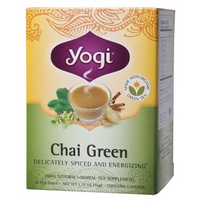 YOGI TEA Herbal Tea Bags Chai Green