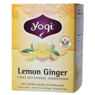 YOGI TEA Herbal Tea Bags Lemon Ginger