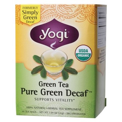 YOGI TEA Herbal Tea Bags Pure Green Decaf