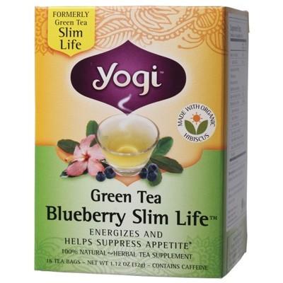 YOGI TEA Herbal Tea Bags Green Tea Blueberry Slim Life