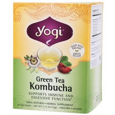 YOGI TEA Herbal Tea Bags Green Tea Kombucha