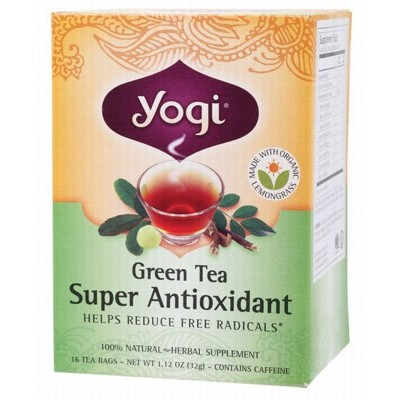 YOGI TEA Herbal Tea Bags Green Tea Super Antioxidant