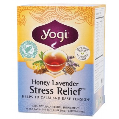 YOGI TEA Herbal Tea Bags Honey Lavender Stress Relief