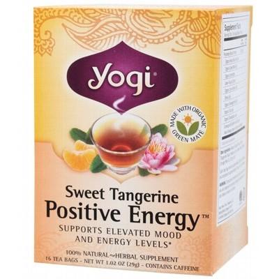 YOGI TEA Herbal Tea Bags Sweet Tangerine Positive Energy