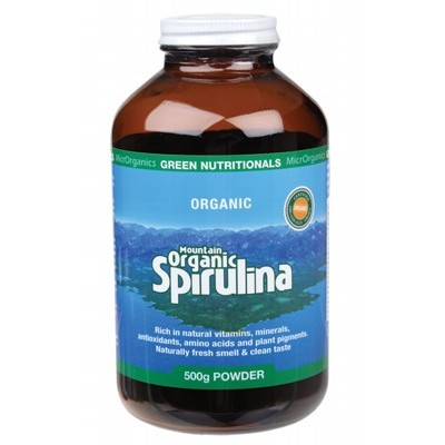 GREEN NUTRITIONALS Organic Spirulina Powder 500g