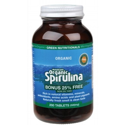 GREEN NUTRITIONALS Organic Spirulina Tablets 200
