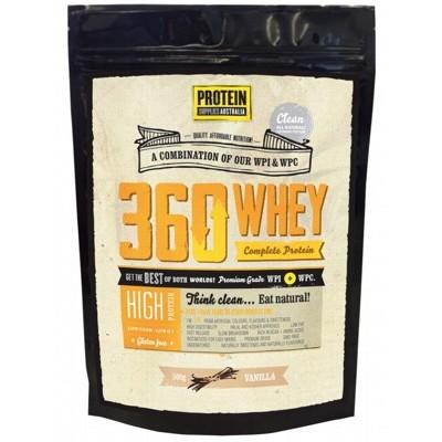 PROTEIN SUPPLIES AUST. 360 Whey Vanilla 500g