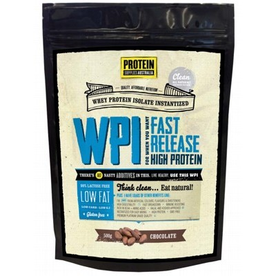 PROTEIN SUPPLIES AUST. Chocolate Whey Isolate 500g