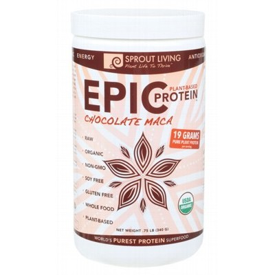 SPROUT LIVING Epic Protein Chocolate Maca 340g